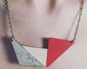 Vannucchi - Geometric Wooden Necklace