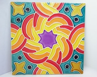 Traditional tile - crazy colors
