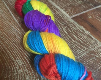 Hand Dyed Superwash Merino DK/Light Worsted Yarn Wool, 100g/3.5oz, 'Horse of a Different Color', Wizard of Oz