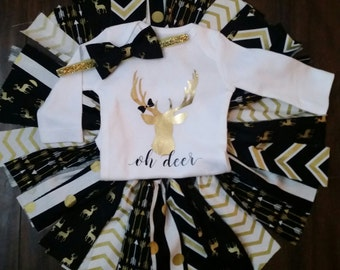 deer tutu set