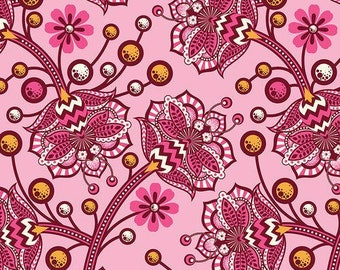 Tula Pink Birds and Bees Bees Knees in Sunset for Free Spirit Fat Quarter OOP & HTF