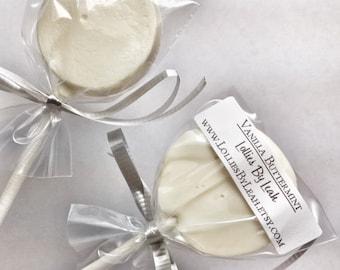 12 Vanilla Buttermint Lollipops