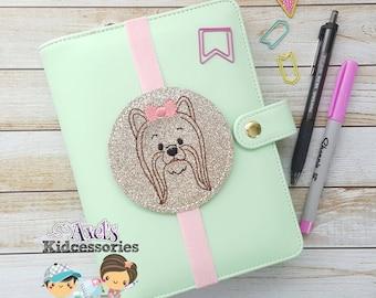 Dog Bookmark - Yorkie Dog Elastic Bookmark - Dog Lover Bookmark -Yorkie Mom Planner Band - Yorkie Dog - Planner Accessories