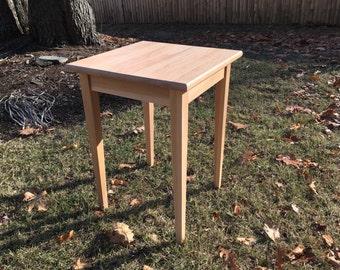 Hardwood Beech End Table
