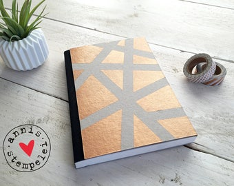Notebook sketchbook, bronze, blank DIN A5