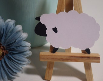 Sheep die cuts, baby shower, scrapbooking, Embellishments, Decorations, Gift Tag, Card Making, Invitations, Favors, Crafts VTC-0046