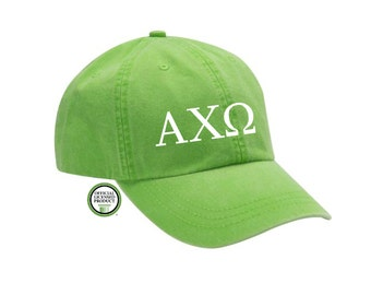 Alpha Chi Omega Embroidered Hat, Baseball Cap, Sorority Hat, Sorority gift, Big Little Gift, Alpha Chi Omega Gift, Alpha Chi Omega Cap