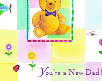 New Father's Day Card, Card for Dad, Greeting Cards, Card for Father's, New Father to be, New dad Card