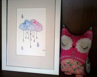 Rain Cloud Original Watercolour