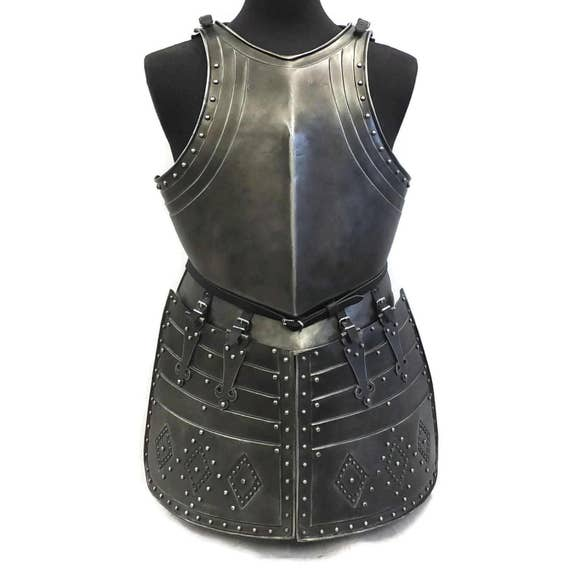 Larp Armor, Pikeman Breastplate, Backplate and Tassets