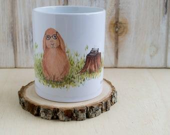 Woodland Bunny Mug for Coffee + Tea