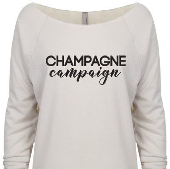 Champagne Campaign, Bachelorette v-neck, bachelorette party, bridesmaid gift, birthday shirt, girls outing, wedding shirts