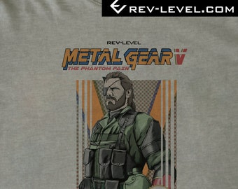 Metal Gear Solid V NES Cover T-Shirt 2017 Update - MGS 5 8bit Inspired by Kojima's MGS by Rev-Level