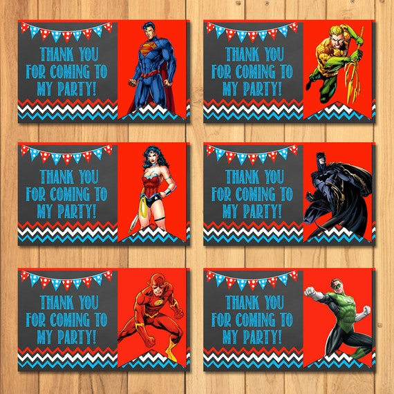 Superhero Party Tags Chalkboard * Superhero Favor Tags * Superhero Party Favors * Superhero Goody Bag Party Tags * Justice League