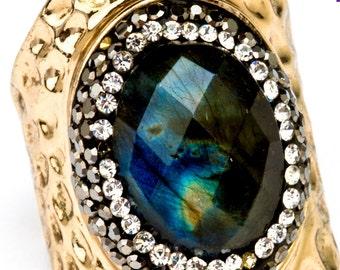 Labradorite Statement Ring