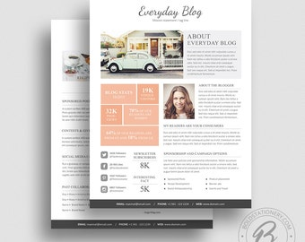 Media Kit Template 08 - 2 Page Media Kit Template - Ad Rate Sheet Template - Press Kit - Pitch kit