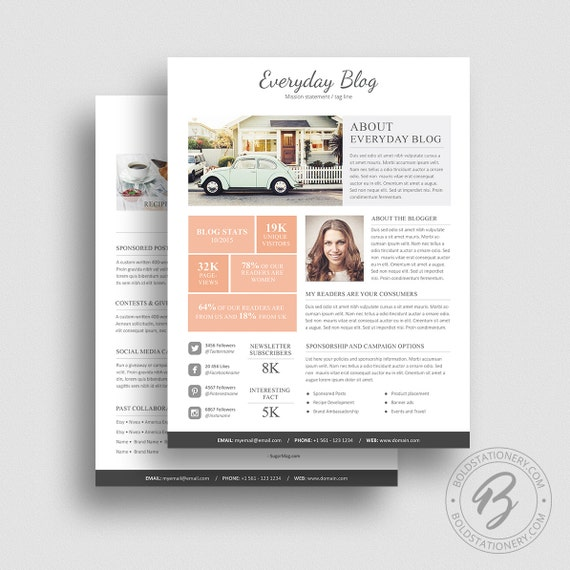 Media Kit Template 08 2 Page Media Kit Template Ad Rate