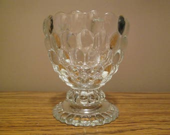 """Votive Candle Holder - Avon - Ovalique Bubble - Scalloped - Footed - 4"""" High - 3.5"""" Across - Very Nice Vintage Condition -with Free Shipping"""