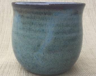 Blue/Brown Juice Cup, Ceramic Cup, Handmade Cup
