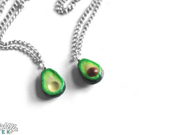 Nerd Couples Necklace Avocado Necklace Food Jewelry