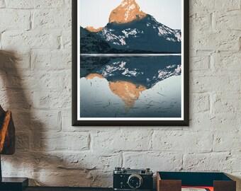 Sunrise Mountain Print
