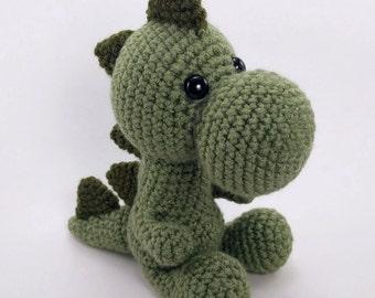 PATTERN: Crochet dinosaur pattern - amigurumi dinosaur pattern - crocheted dino pattern - dinosaur stuffie tutorial - PDF crochet pattern