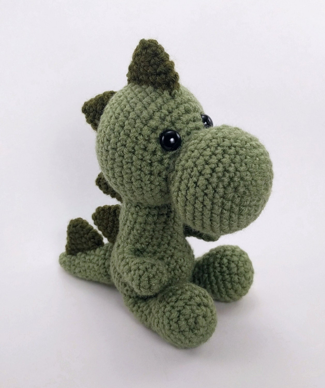 Crochet Dinosaurio Patron: Patr n amigurumi beb dinosaurio ...