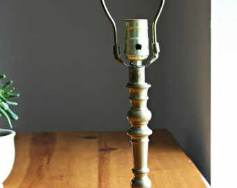 Vintage Brass Lamp, Small Brass Lamp, Desk Lamp, Bedside Table Lamp, Accent Lamp, Candlestick Lamp