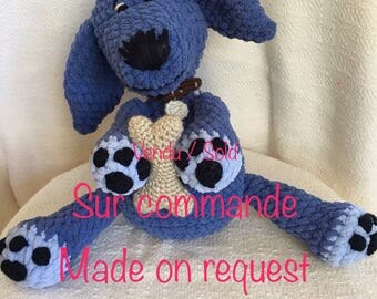 Stuffed handmade / / Blue Dog Nelson / / available on request