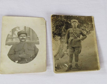 very old black and white photos of  a Greek soldier, circa 1905-1922. Black and white photos, Antique photo postcard, Greek soldier photos.