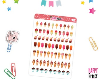 H 107) -- Ice cream and Popsicle sticker