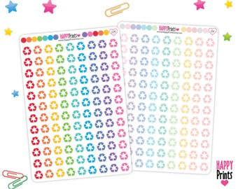 Recycle Planner Stickers, Recycling Planner Stickers