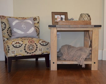 X Brace End Table to match Console Wood Sofa Table