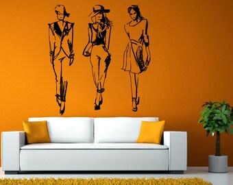 Shopping Vinyl Decal | Shopping Decal | Shopping Wall Art | Girls Bedroom Decor | Bedroom Wall Decal | Bedroom Vinyl | Girls Decal L1914