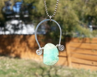 Chrysoprase Ball Chain Necklace