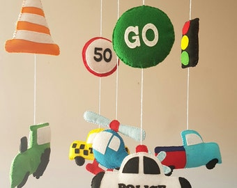 Baby mobile - transport mobile - cot mobile - crib mobile - baby boy nursery - vehicles