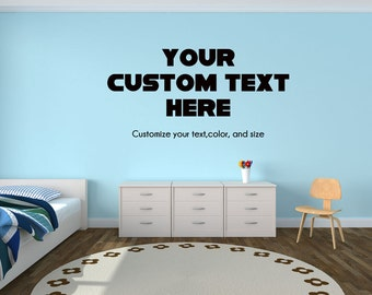 Customized Wall Decal Toddler Or Kids Room Wall Decal Custom Made Customize  Size Color Wall Stickers Part 64