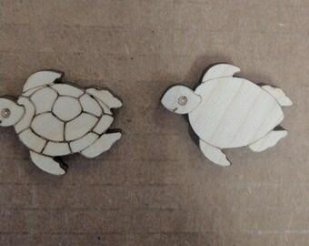 Laser cut turtles, wood turtles, turtles,sea turtles,wood shapes