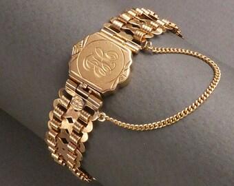 "14K ""From Mother"" Infinity Link Bracelet marked 14K 1906 -13.3 dwt"