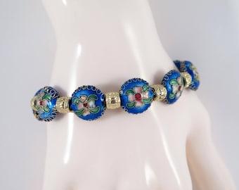 Blue Cloisonne bracelet  #1221B