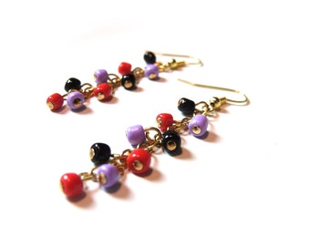 Bold Colours Dangle Earrings