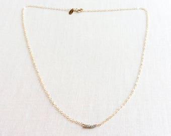 Raw Diamond Necklace, Rough Diamond Necklace, Tiny Diamond Necklace, Diamond Necklace, Tiny Gold Necklace, Raw Diamond Gold Necklace, BN4