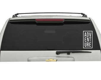 Adventure Vinyl Decal Sticker Choose your Color and Size