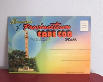 Vintage Souvenir Postcard Folder Provincetown Cape Cod, Massachussetts