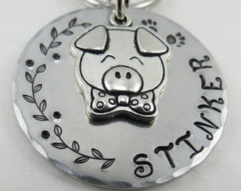 Pig ID tag, Dog ID tag, Pet ID tag, Dog collar id tags, Custom dog tags, Dog tags for dogs, Dog tag, Pet tag, Personalized pet tag