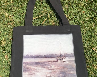Thompsons Beach Ink study design Tote Bag