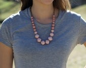 OLIVER-*more colors*- Two Tone Chunky Bead Ugandan Paper Bead Necklace- Spring Colors