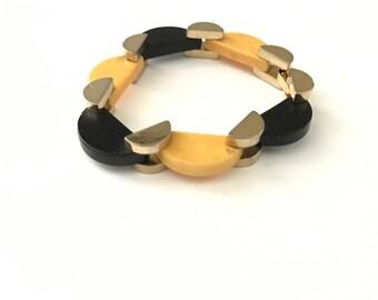 Vintage Rare Machine Age Articulated Bakelite Bracelet