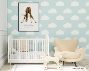 IMAGE name child / horse to customize, print without frame