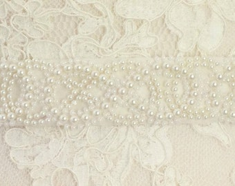Pearl Bridal Belt Or Sash - Made To Measure -Infinity